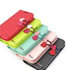 Lovely Cute Pu Leather Wallet Purse Case Cover Stand by GoodToBuy, $13.99 galaxi s4, galaxies, samsung galaxy s4, leather wallets, samsung galaxi, s4 i9500, phone case, tpu cover, pu leather