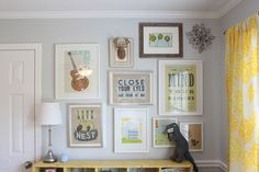 Eclectic gallery wall in the nursery