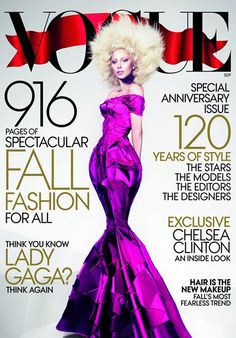Lady Gaga for Vogue September 2012 in Marc Jacobs FW12 mermaid gown