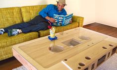Wooden mixtape cassette table, must ask my brother if he can make me one!