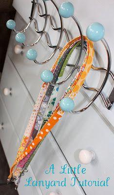 Simply Cotton-A Creative Connection Blog: A Little Lanyard Tutorial http://simplycottonacc.blogspot.com/2011/12/little-lanyard-tutorial.html