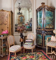French Antiques Iris Apfel's home Featured in Architectural Digest