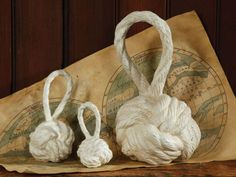 Metal Knot Door Stops - Antique White   Love the nautical theme combined with a practical home use
