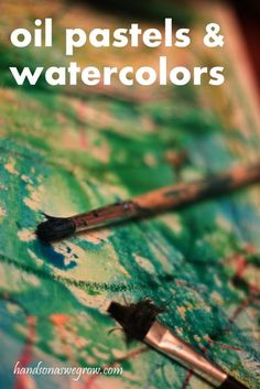 Canvas Art: Oil Pastel Resist Watercolors