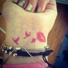 Pink tattoo
