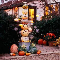 pumpkin tower!