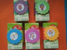 20 bubble Guppies Juice Box Covers Party favor by kadkinson, $12.50