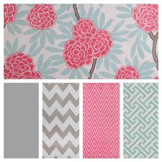mints, nursery colors, crib bedding, color palett, custom crib