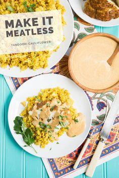 Tandoori Cauliflower with Indian-Spiced Quinoa Recipe