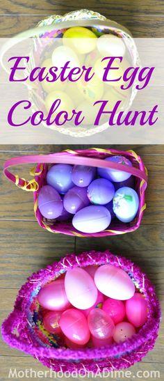 Easter Egg Color Hunt Idea