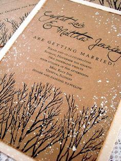 Winter Wedding Stationary