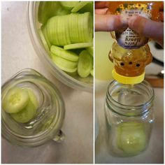 Muddle cucumbers with a squeeze of honey, then add lemonade, ice, and vodka.