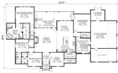 Plan W56300SM: French Country, European, Corner Lot House Plans & Home Designs - mudroom