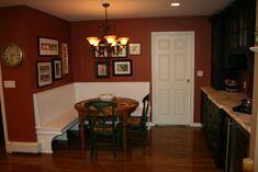 corner kitchen seating ideas   Kitchen Banquette Project – Complete!
