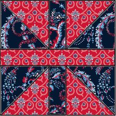 "New ""Madison"" fabric collection from Anna Griffin on PatternJam.com"