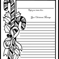 If you're hosting an open house or party this holiday season, then make sure to print out a guest book page. Have your guests sign and add their Christmas message so that you'll have a remembrance from the event.