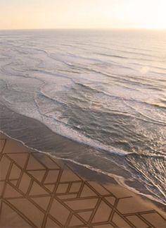 sands, artists, drawings, sand art, sand sculptur, jim denevan, beach, landart, land art