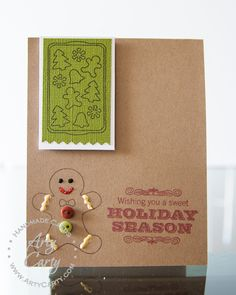 Are you ready for Gingerbread? Card designed by Stephanie Lee using Gingerbread Greeting set.