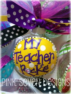 Great idea for teacher Christmas gifts - could also be done on a rock as a paper weight