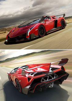 Lamborghini Veneno Roadster #Hypercar