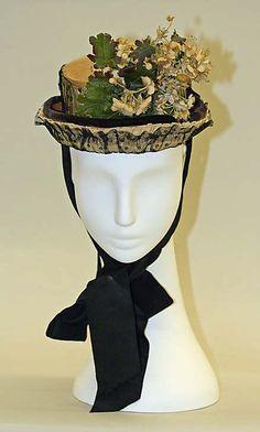 1872 ... Bonnet / Hat ... at The Metropolitan Museum of Arts ... photo 2