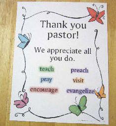 Pastor Appreciation Ideas on Pinterest | Pastor, Pastors Wife and ...