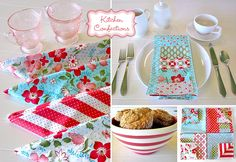 Patchwork Napkin Set Uses 14 Different Pretty Prints