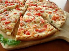 """Shrimp or Lobster Gourmet Pizza: """"This is an excellent pizza! I had to use my rectangle baking stone, as I don't have a large pizza pan. The recipe states it serves 4, but 2 of us polished it off with no problem."""" -Lori Mama"""