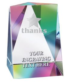 Rainbow Prism #Paperweight is a New Way to Show Your #Coach, #Teacher and #Employees that You Appreciate Them. http://www.crownawards.com/StoreFront/GLPWRPR.ALL.Crystal_Awards.Crystal_Rainbow_Prism_Paperweight.prod