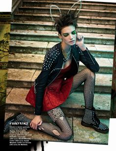 visual optimism; fashion editorials, shows, campaigns & more!: hot punk: jessica pitti by sandrine dulermo and michael labica for glamour it...