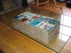 books as a table