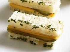 Cheddar-Pickle Tea Sandwich
