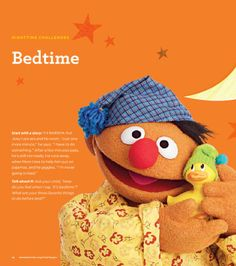 "Find tips for creating and maintaining a bedtime routine for your preschooler in Sesame Street's ""Little Children, Big Challenges"" Family Guide. Download and print for FREE at: www.sesamestreet.org/Challenges. #sesamestreet #bedtime"
