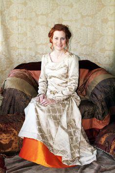 Orange wedding dresses on offbeat bride