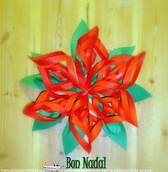 Flor de navidad de papel: http://www.manualidadesinfantiles.org/flor-de-navidad-con-papel