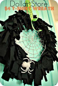 Halloween t-shirt wreath
