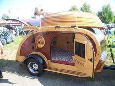 Old style teardrop trailers.