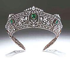 The Harcourt Tiara...emeralds and diamonds