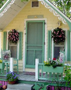 design homes, home interiors, colors, luxury houses, tiny cottages, gingerbread, cottage homes, front porches, little cottages
