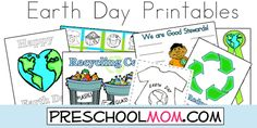 Free Earth Day Printables from PreschoolMom!   Tons of resources here for a thematic unit :)