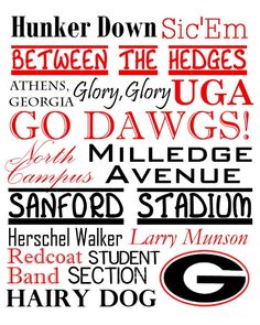 UGA is the place to be! UGA is the place for me !