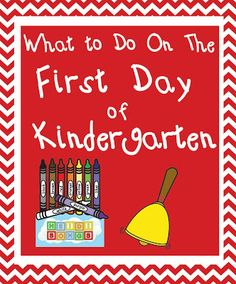 Heidisongs Resource: What To Do on the First Day of Kindergarten