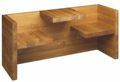 ingenious wooden bench/table  This would be good for two little boys I know.