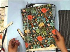 Scrapbook Mini Album: Vertical Paper Bag album Part 2 - YouTube