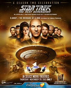 """Win free tickets to the one-night-only, world-premiere reveal of two gloriously remastered episodes of """"Star Trek: The Next Generation"""" courtesy of HollywoodChicago.com! Win here: http://ptab.it/ieww"""