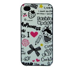 Cartoon Embossment Iphone4/4s Case-Pattern A - Embossment Cases - iPhone Cases - Apple Accessories - Electronics