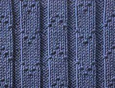 Chevron Ribs - Stitch Sample