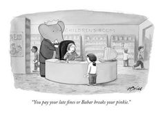 Library humor! :: New Yorker cartoon by Harry Bliss