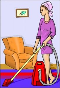 carpet cleaning with baking soda/cornstarch