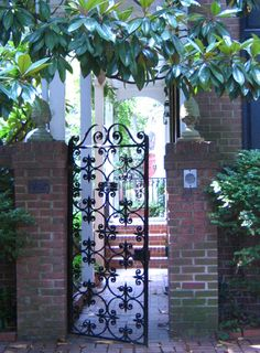 wrought iron gate, Alexandria, Va